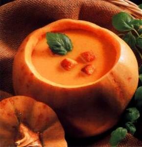 A warming pumpkin soup.