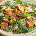 Salmon, Zucchini Salad